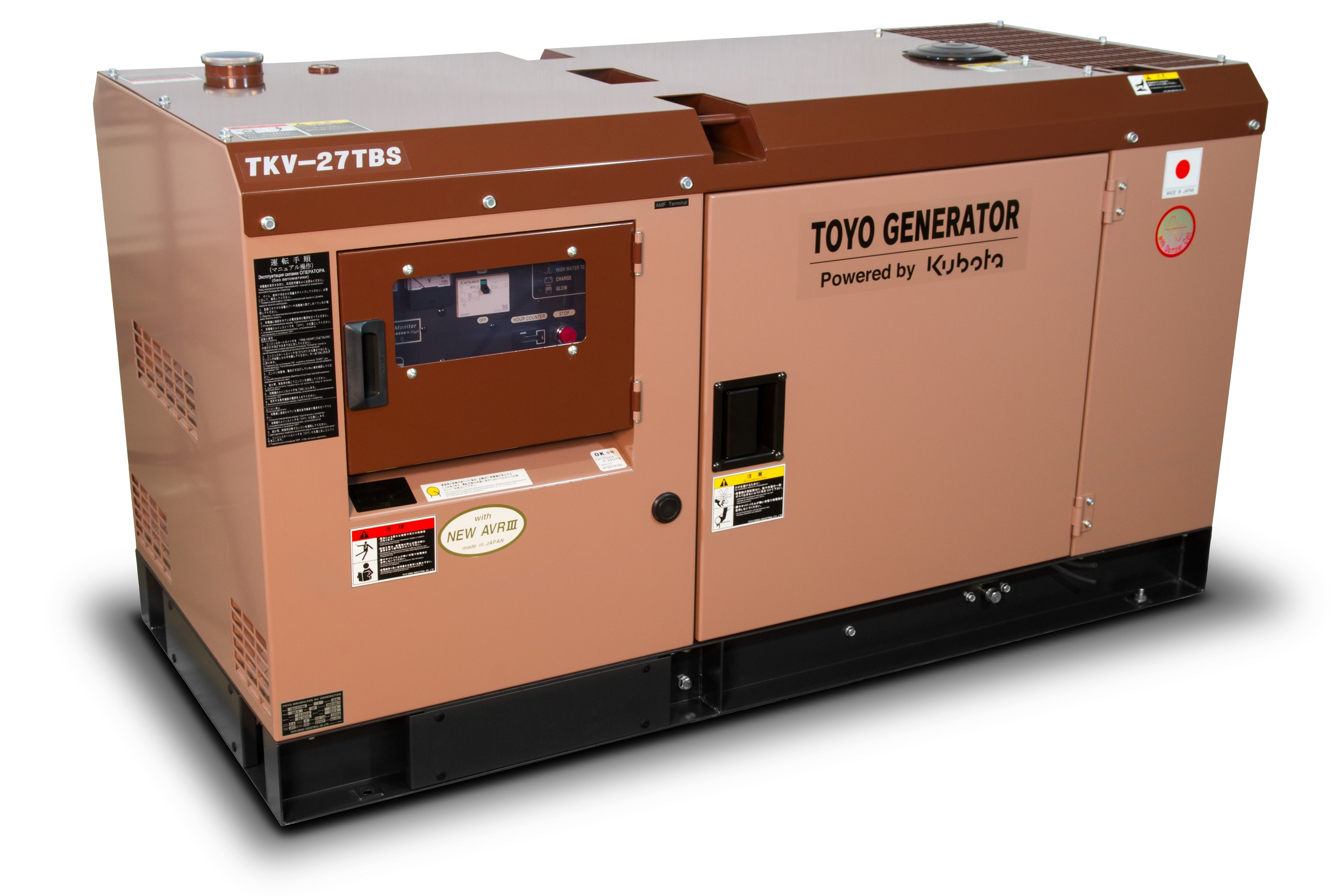 Дизельный генератор (электростанция) TOYO TKV-27TBS