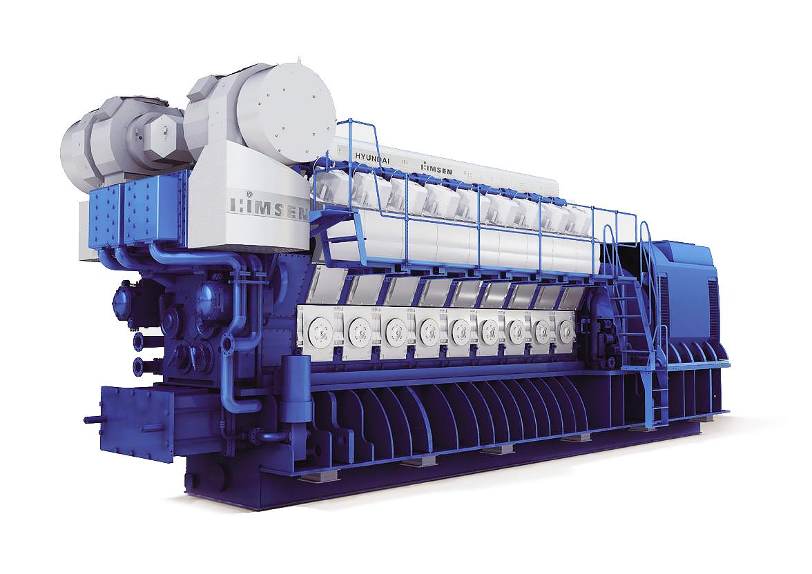 Газопоршневая электростанция (ГПУ) Hyundai HiMSEN 9H35/40G