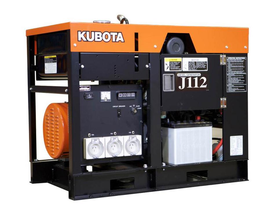 Дизельный генератор (электростанция) Kubota J112