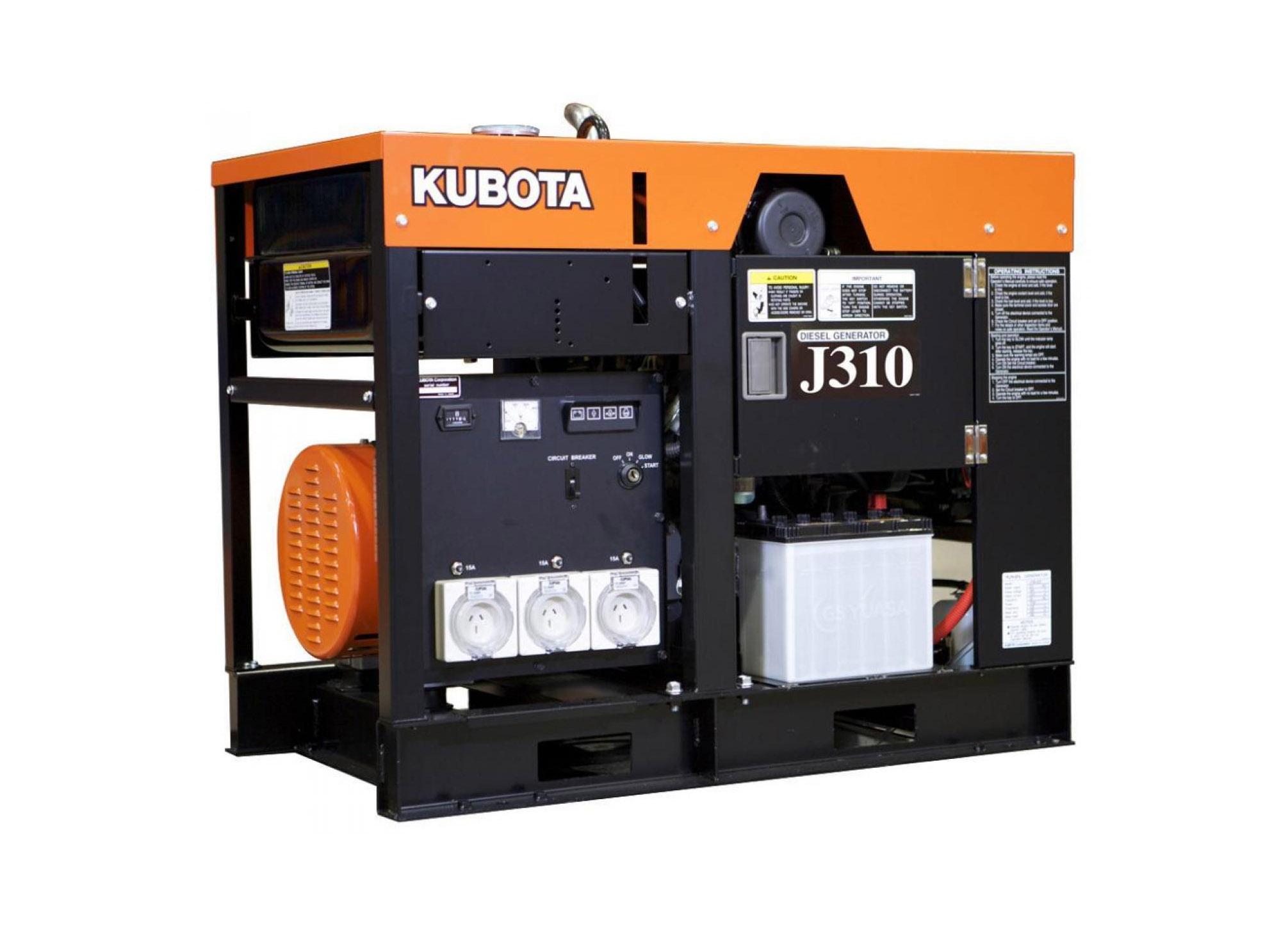 Дизельный генератор (электростанция) Kubota J310